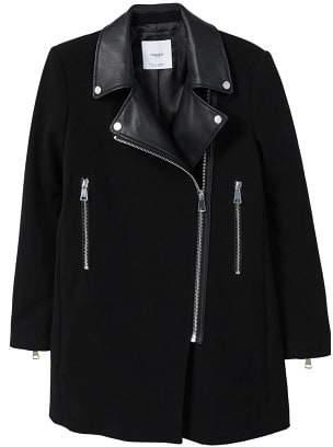 MANGO Zippers combined coat