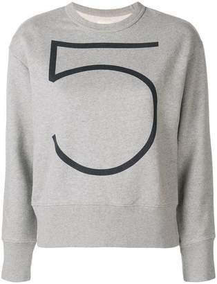 Bellerose numeral print sweater