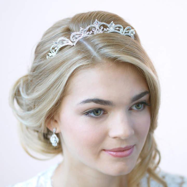 Etsy Rhinestone Wedding Tiara, Princess Tiara, Rhinestone Bridal Crown, Princess Crown, Vintage Wedding H