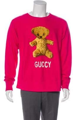 Gucci 2018 'Guccy Teddy Bear' Sweatshirt fuchsia 2018 'Guccy Teddy Bear' Sweatshirt