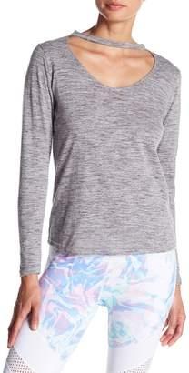 DSGN Yoga Long Sleeve Choker Neck Shirt