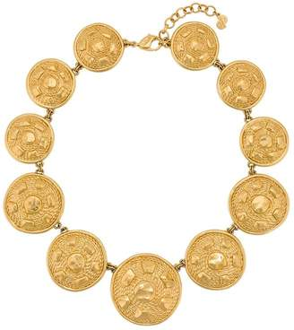 Christian Dior Pre-Owned circle pendant necklace