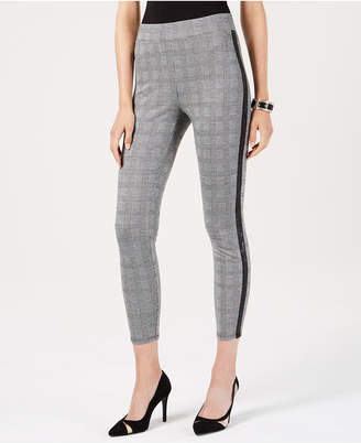 Thalia Sodi Printed Ponte Knit Cropped Pants