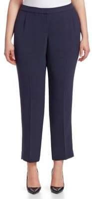 Lafayette 148 New York Lafayette 148 New York, Plus Size Finesse Crepe Front Zip Bleecker Pants