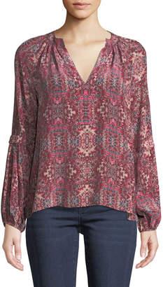 Nanette Lepore Hideout Long-Sleeve Top in Silk