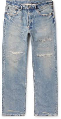 Co Fabric-Brand & Paint-Splattered Distressed Denim Jeans