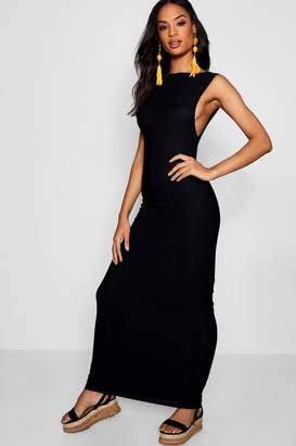 boohoo Tall Side Boob Jersey Maxi Dress