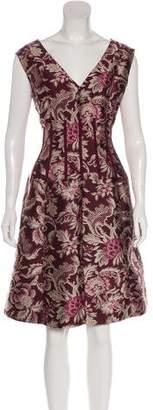 Oscar de la Renta Floral Sleeveless Dress
