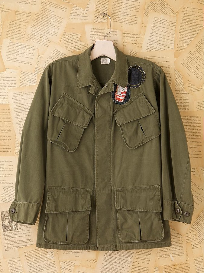 Vintage Millitary Four Pocket Jacket