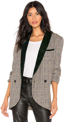 Free People Velvet Trimmed Blazer