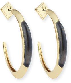 Alexis Bittar Crescent Hoop Earrings $125 thestylecure.com