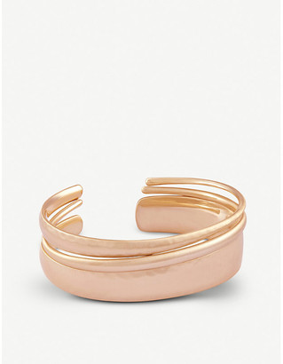 Kendra Scott Tiana Pinch 14ct rose gold-plated bracelet