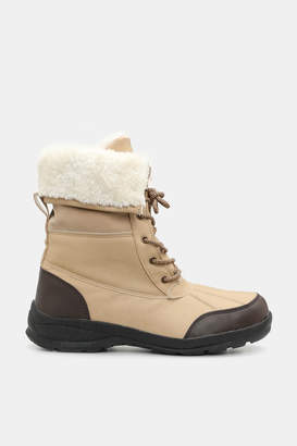 Ardene Folded Faux Fur-Trimmed Boots