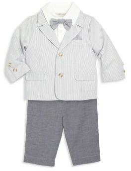 Baby's Three-Piece Pinstripe Blazer, Collared Shirt & Pants Set $82 thestylecure.com