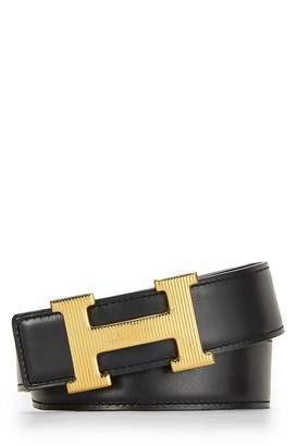 Hermes H Belt Buckle & Reversible Leather Strap 42