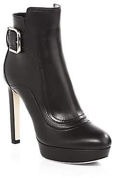 Jimmy Choo Women's Britney Platform Leather Ankle Boots