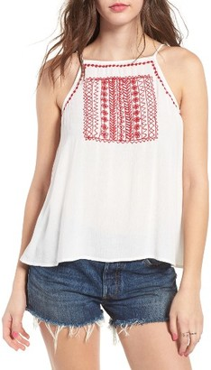Women's Band Of Gypsies Embroidered Flyaway Camisole $49 thestylecure.com