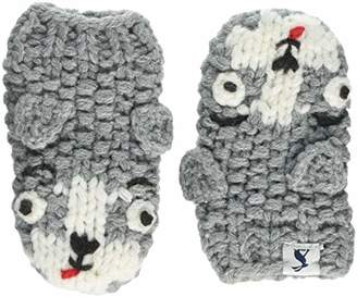 Joules Baby Boys' Chummy Mittens, White Fox, Small (Size:6-12)