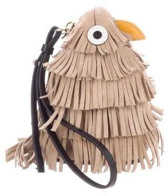 Oscar de la Renta Fringe Bird Pouch