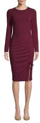 Rachel Roy Long-Sleeve Scuba Crepe Dress