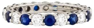 Tiffany & Co. Platinum Diamond & Sapphire Embrace Eternity Band