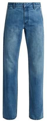 Tibi Low-rise straight-leg jeans