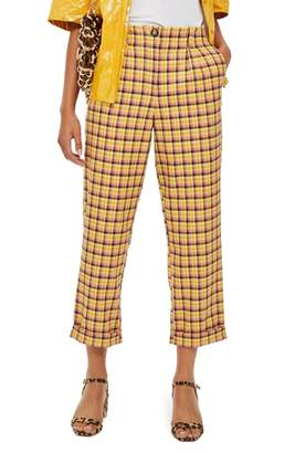 Topshop Picnic Check Peg Trousers