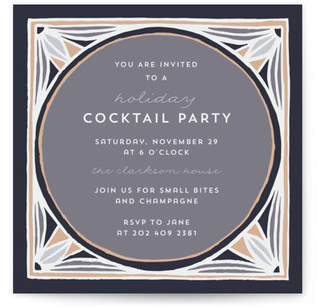 Deco Square Holiday Party Invitations