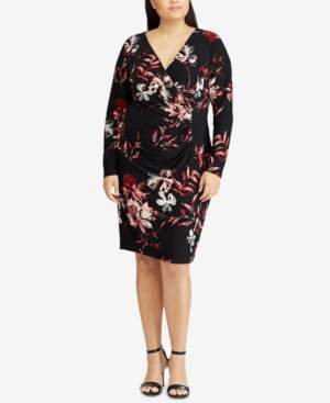 American Living Shirred Floral-Print Dress