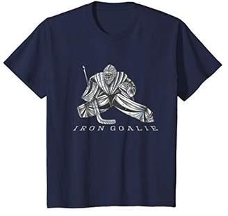 Hockey Iron Goalie Graphic Super hero Metal Steel T-Shirt
