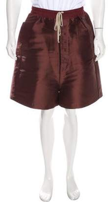 Rick Owens Silk Drop Crotch Pod Shorts