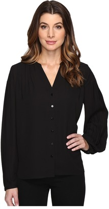 NYDJ - Pleated Sleeve Blouse Women's Blouse $98 thestylecure.com