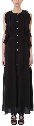 Pierre Balmain Black Silk Long Dress