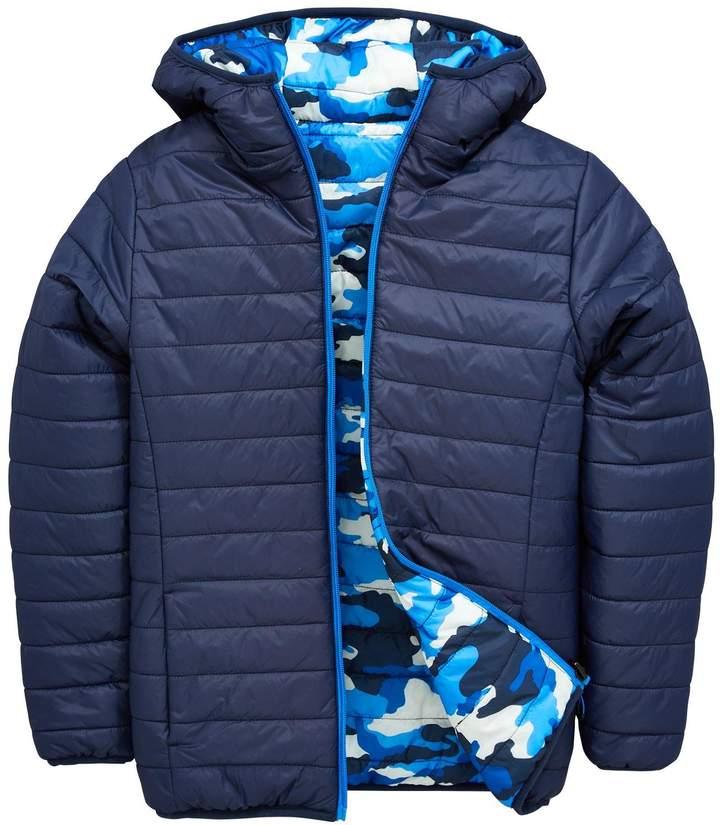 Reversible Camo Print Jacket