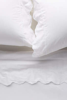 Anthropologie Embroidered Sateen Sheet Set