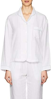 Castle & Hammock Women's Piped Double-Faced Cotton Top