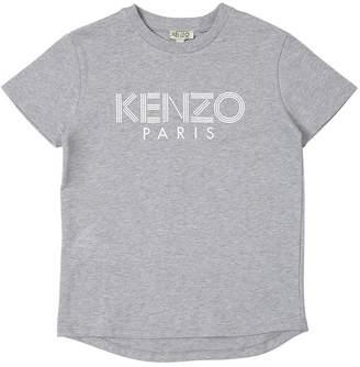 Kenzo Logo Printed Cotton Interlock T-Shirt
