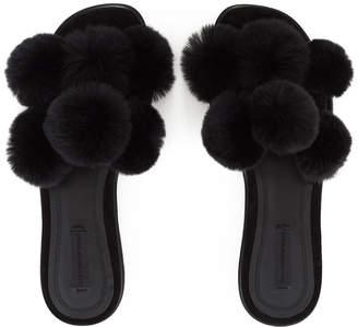 Alexander Wang Ava Fur Slide Sandals
