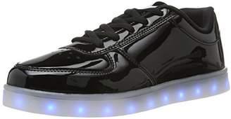 Wize & Ope Unisex Adults' LED-POP Low-Top Sneakers Black Size: (39 EU)