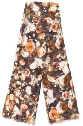 Givenchy Floral Silk-Blend Scarf