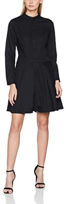 G Star Women's Core Flare Dress L/s dk Black 8299, Small