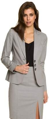 Le Château Women's Textured Notch Collar Blazer,M