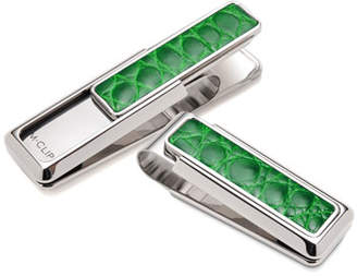 M Clip Monterey Alligator Money Clip, Green