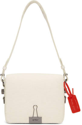Off-White Off White Beige Byredo Edition Canvas Binder Clip Bag