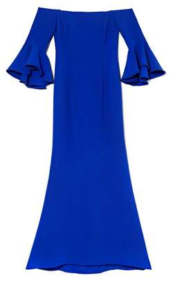 Vince Camuto Bell-sleeve Off-the-shoulder Gown