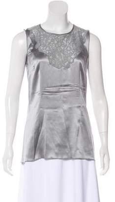 Dolce & Gabbana Silk-Blend Sleeveless Blouse