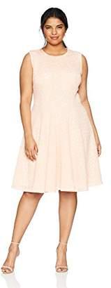 Calvin Klein Women's Plus Size PERF FIT/Flare Dress