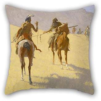 Remington PaPaver Pillowcover Of Oil Painting Frederic The Parley Best Fit For Home Couch Family Gril Friend Lounge Relatives Double Sides