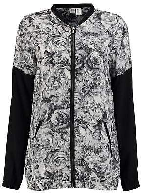 O'Neill Womens Fable Bomber Jacket Coat Top Lightweight Zip Full Print