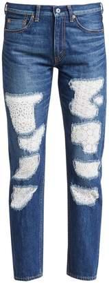 Junya Watanabe Patchwork Lace Selvedge Denim Jeans
